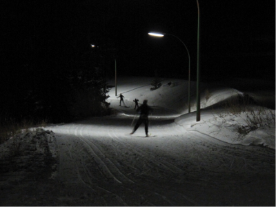 5 km of LIT TRAILS for night skiing.